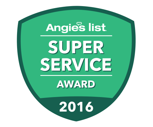 Angie's List 2016 Award Winner Badge.